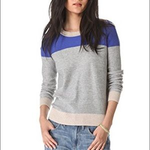 Madewell Basket Weave Color Block Pullover